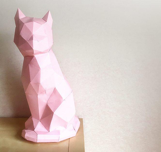 Le chat en origami