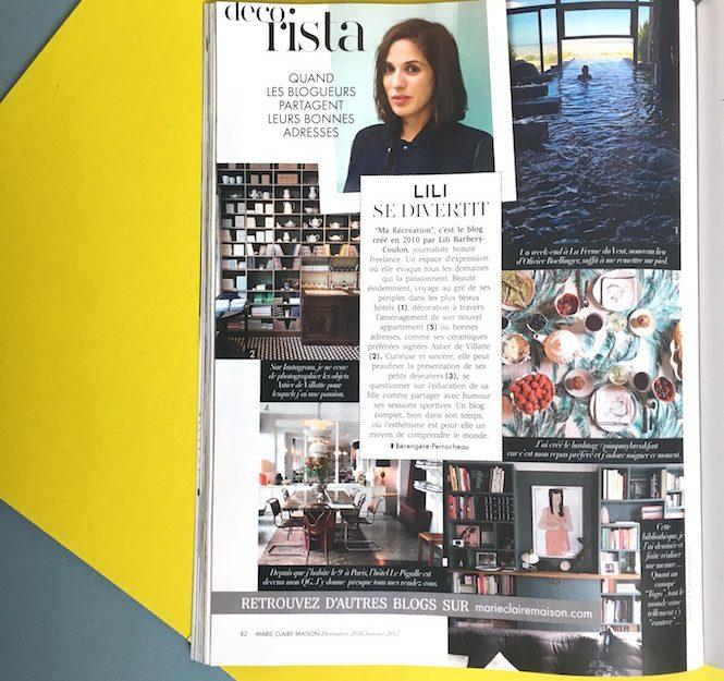 La gloire dans le magazine Marie-Claire Maison!!!